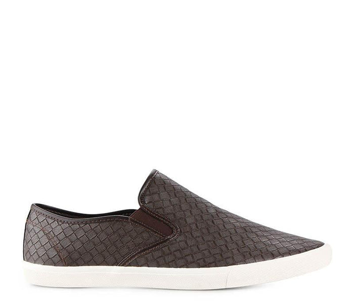 Weave Slip-On - Brown