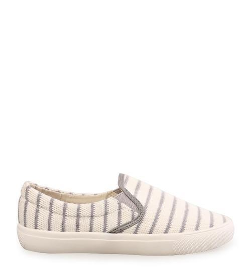 Woman Fabric Slip-On - Grey