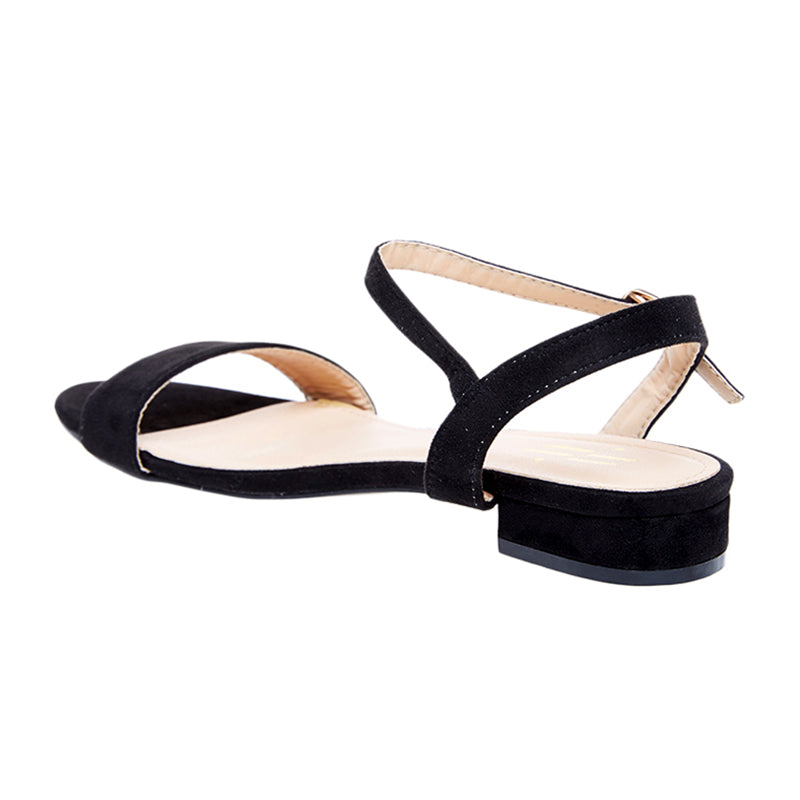 Woman Aurel Suede Sandals - Black