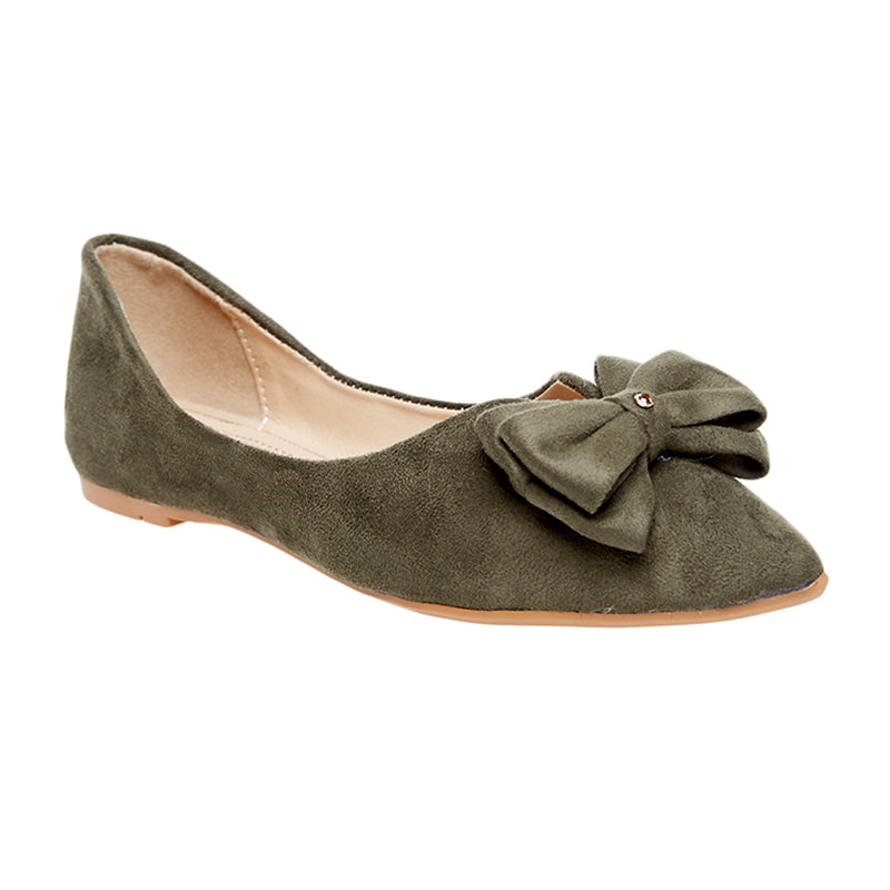 Woman Lala Suede Flats - Green