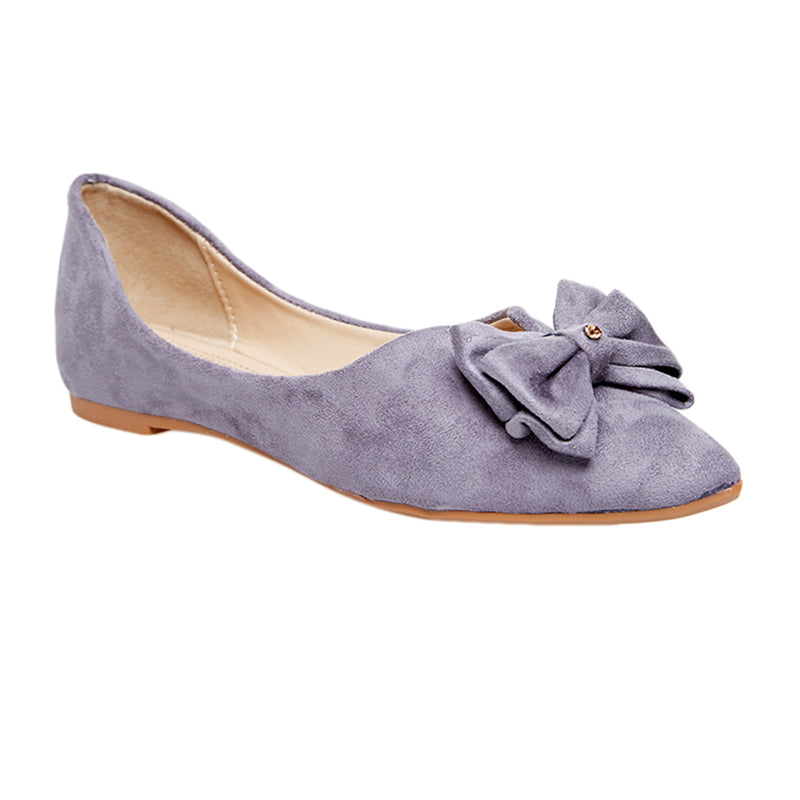 Woman Lala Suede Flats - Grey