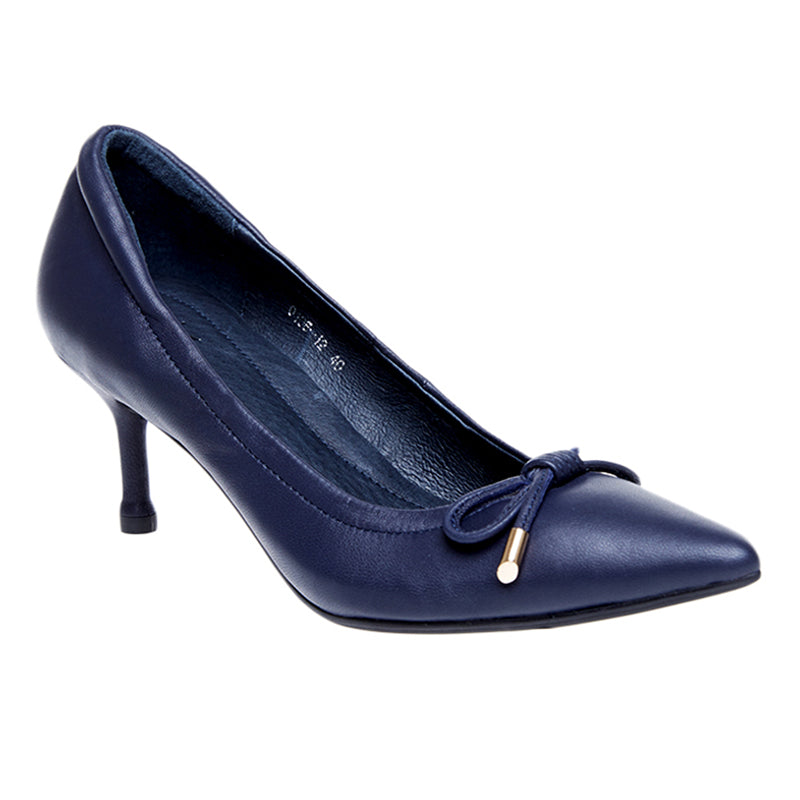 Woman Sylvia Leather Heels - Blue