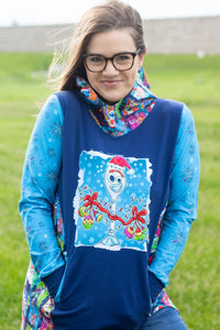 CATALOG R46 - Christmas Sweater - Blue Snowflakes