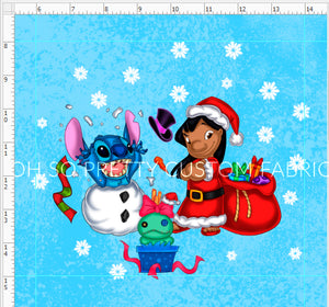Retail Ohana Christmas Girl and Blue Friend