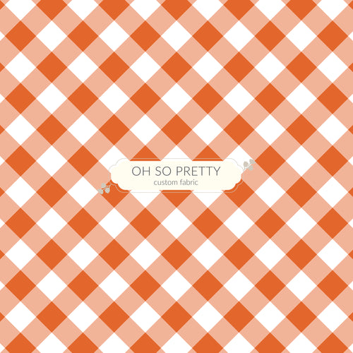 Preorder Autumn Essentials Burnt Orange Gingham