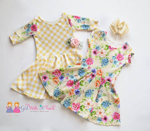 Preorder Summer Essential Sunflower Yellow Gingham