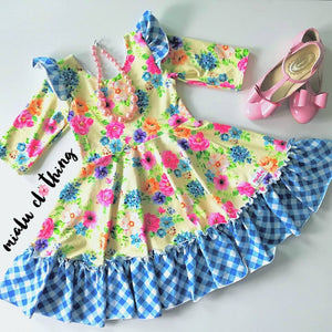 Retail Storybook Rabbit Blue Gingham