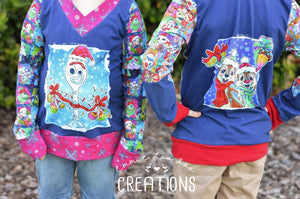 CATALOG - PREORDER R46 - Christmas Sweater - Chipmunks Panel