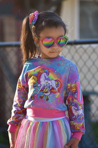 CATALOG - PREORDER R43 - 80s Throwback - Rainbow Unicorn - Colorful Panel