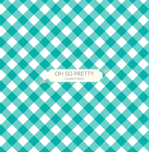 Retail Summer Essential Aqua Gingham