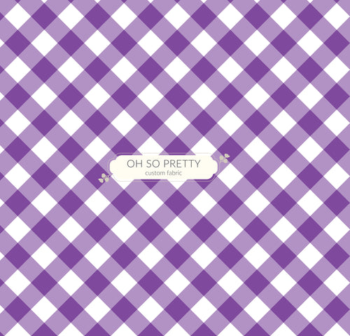 Retail Summer Essential Purple Gingham