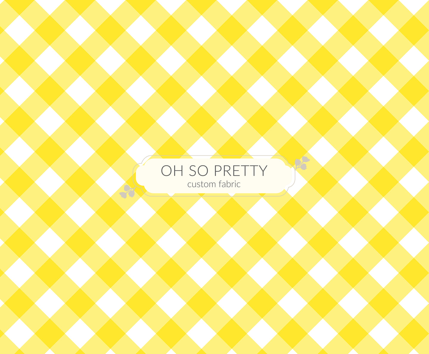 Preorder Summer Essential Yellow Gingham
