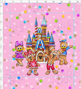 Preorder Gingerbread Mouse Pink Panel
