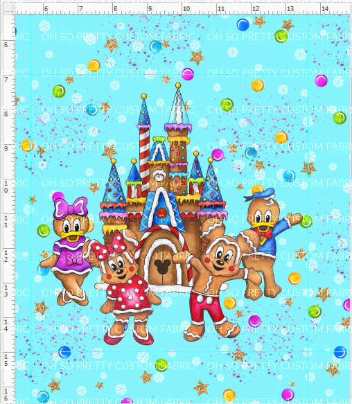 Preorder Gingerbread Mouse Blue Panel