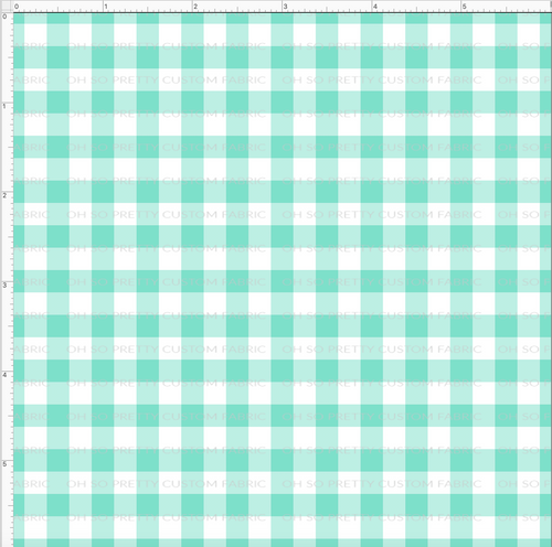 CATALOG R31 - Strawberry Kids  - Small Teal Gingham