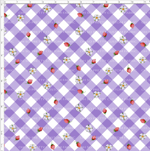 CATALOG PREORDER R31 - Strawberry Kids  - Purple Gingham