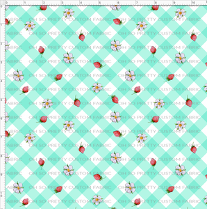 CATALOG R31 - Strawberry Kids  -Teal Gingham