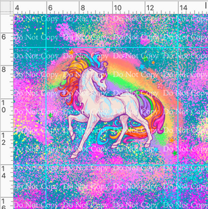 CATALOG - PREORDER R43 - 80s Throwback - Rainbow Unicorn - Unicorn Panel