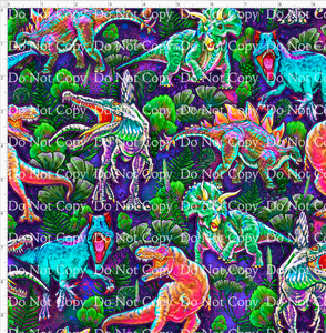 CATALOG R43 - Fluorescent Dinos - Main - Pink Background REGULAR SCALE 10x10