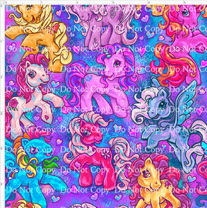 CATALOG - PREORDER R43 - 80s Throwback - Ponies - Main - Blue - SMALL SCALE 6x6