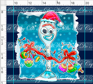 PREORDER R48 - Christmas Sweater - Forky Panel
