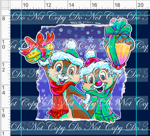 PREORDER R48 - Christmas Sweater - Chipmunks Panel