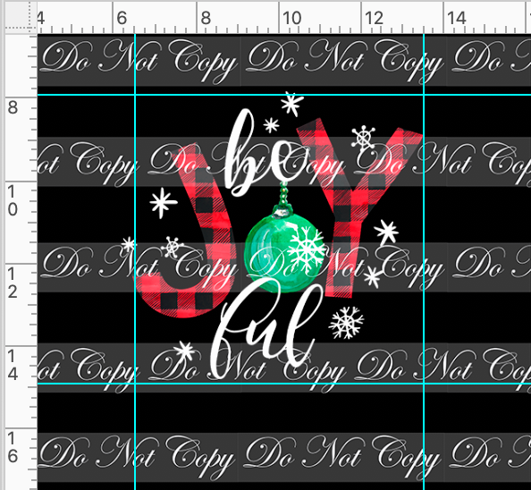 CATALOG - PREORDER R46 - Christmas Wish - Panel - Joyful - Black