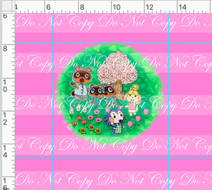 PREORDER R46 - Island Critters - Pink Panel - No Words