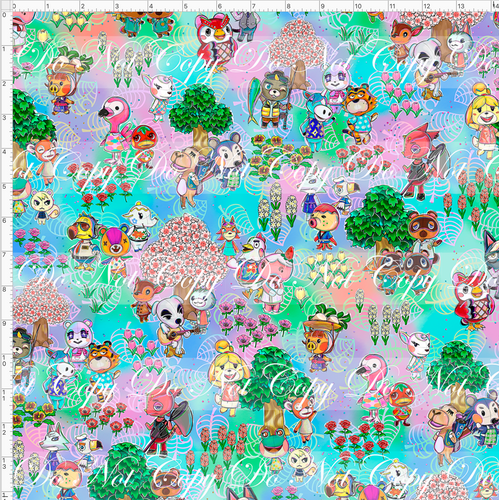 PREORDER R46 - Island Critters - Directional Print - REGULAR SCALE