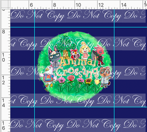 PREORDER R46 - Island Critters - Blue Panel
