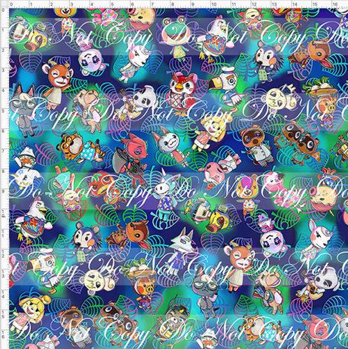 PREORDER R46 - Island Critters - Blue Green Tossed - LARGE SCALE
