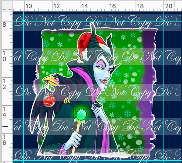 PREORDER R48 - Christmas Sweater - Malificent Panel
