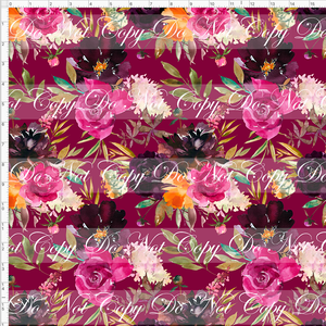 Retail Autumn/Winter Essentials - Autumn Magenta Floral  - LARGE SCALE