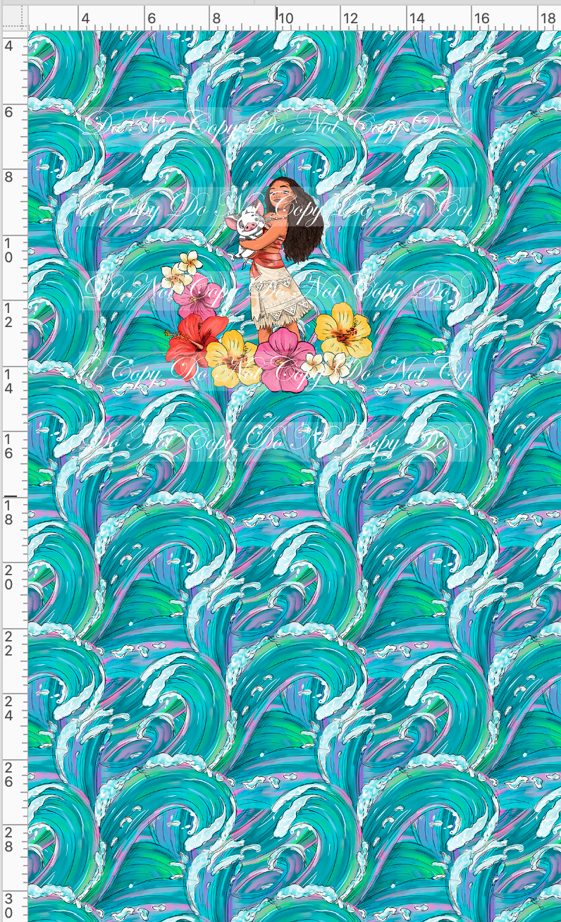 CATALOG R47 - The Ocean Princess - Ocean Background  - PANEL