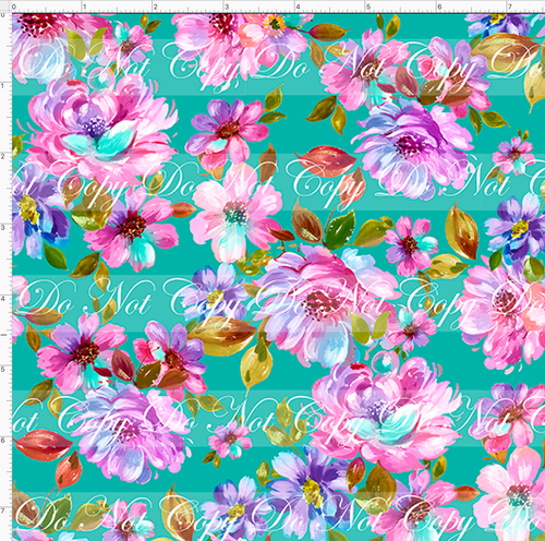 Retail Seasonal Essentials - Ballet Dancers - Floral - Teal - SMALL SCALE