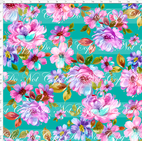 Retail Seasonal Essentials - Ballet Dancers - Floral - Teal - LARGE SCALE