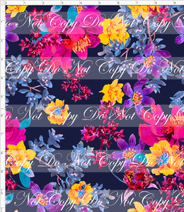 PREORDER - Autumn/Winter Essentials - Flowers on Navy