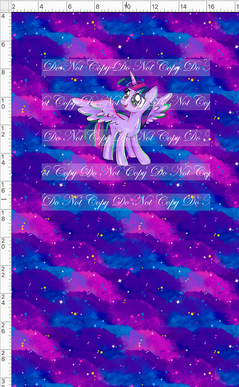 CATALOG - PREORDER R48 - We Got This Together - PANEL - Twilight Pony with Clouds