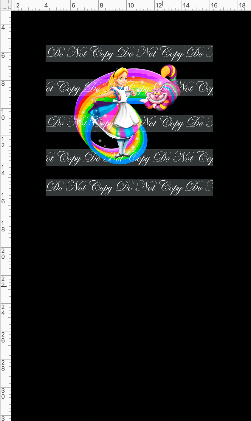 CATALOG R49 - Rainbow World - Alice - PANEL - Black