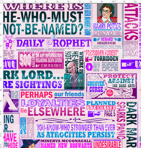 CATALOG - PREORDER R50 - Expecto Patronum - Newspaper - Light Pink - LARGE SCALE