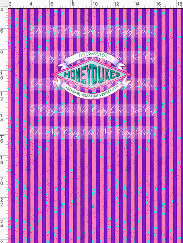 CATALOG - PREORDER  R50 - Expecto Patronum - Honeydukes - Purple Stripe - PANEL