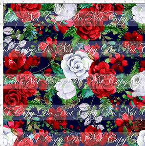 PREORDER - Autumn/Winter Essentials - Christmas Roses - Blue - SMALL SCALE