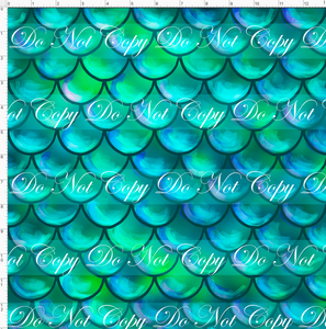 CATALOG - PREORDER R51 - Under the Sea - Scales - Teal - REGULAR SCALE