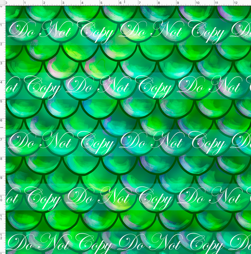 CATALOG - PREORDER R51 - Under the Sea - Scales - Green - REGULAR SCALE