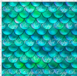 CATALOG - PREORDER R51 - Under the Sea - Scales - Teal - SMALL SCALE