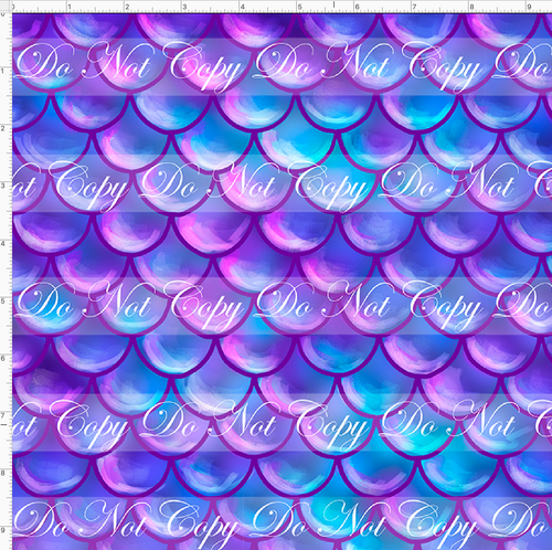 CATALOG - PREORDER R51 - Under the Sea - Scales - Purple - SMALL SCALE