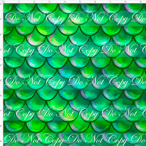 CATALOG - PREORDER R51 - Under the Sea - Scales - Green - SMALL SCALE