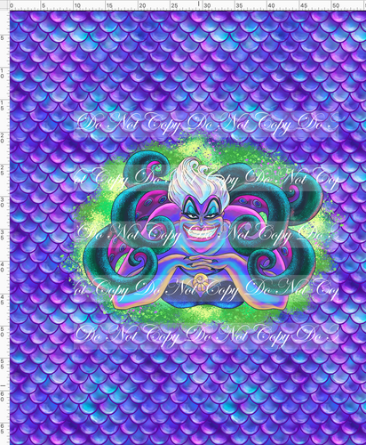 CATALOG - PREORDER R51 - Under the Sea - Ursula - Purple - Adult Blanket Topper