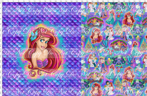 CATALOG - PREORDER R51 - Under the Sea - Mermaid - Purple - Toddler Blanket Topper