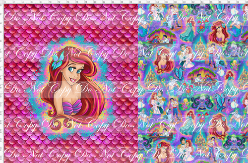 CATALOG - PREORDER R51 - Under the Sea - Mermaid - Pink - Toddler Blanket Topper